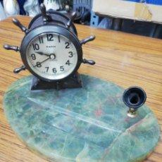 Relojes de carga manual: RELOJ ESCRIBANÍA. FORMA TIMÓN. RELOJ SIN FUNCIONAR. OJO.! WATERBURY.. Lote 158805102