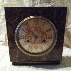 Relojes de carga manual - ANTIGUO RELOJ ART DECO - MARMOL Y BRONCE - EXCEPCIONAL. - 158955938