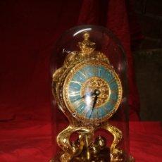 Clocks Manual Charge: IMPRESIONANTE RELOJ ANTIGUO ALEMÁN 400 HORAS BRONCE. Lote 159103805