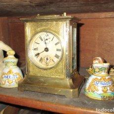 Relojes de carga manual: PRECIOSO RELOJ ANTIGUO SOBREMESA SONERIA. Lote 158917846