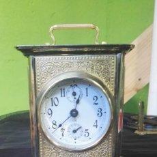 Relojes de carga manual: ANTIGUO RELOJ CARRUAJE CON SONERÍA, TOTALMENTE RESTAURADO. Lote 159532274