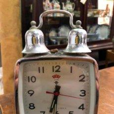 Relojes de carga manual: ANTIGUO RELOJ DESPERTADOR A CUERDA POLARIS - AÑOS 70 - MEDIDA 18X11,5 CM. Lote 159621782