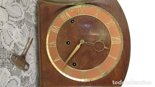 Relojes de carga manual: Reloj antiguo aleman de chimenea mesa sobremesa soneria campanadas melodía catedral Bib Ben carillón - Foto 2 - 159971446