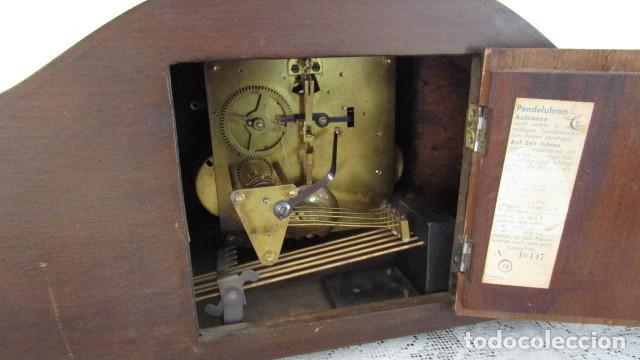 Relojes de carga manual: Reloj antiguo aleman de chimenea mesa sobremesa soneria campanadas melodía catedral Bib Ben carillón - Foto 6 - 159971446