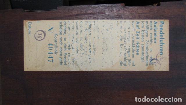 Relojes de carga manual: Reloj antiguo aleman de chimenea mesa sobremesa soneria campanadas melodía catedral Bib Ben carillón - Foto 7 - 159971446
