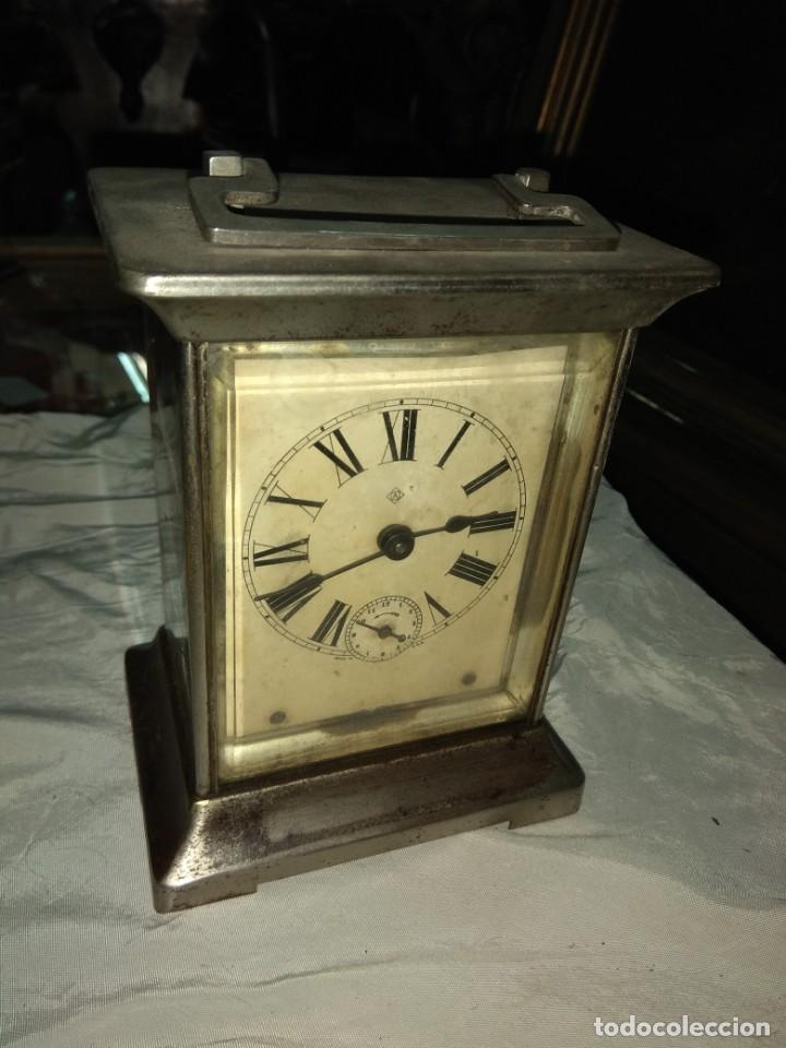 ANTIGUO RELOJ DE CARRUAJE ANSONIA USA - LEER DESCRIPCIÓN - (Relojes - Sobremesa Carga Manual)