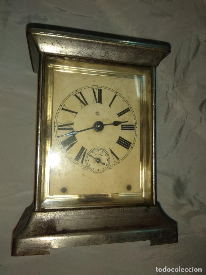 Relojes de carga manual: Antiguo Reloj de Carruaje Ansonia Usa - Leer Descripción - - Foto 3 - 160013650