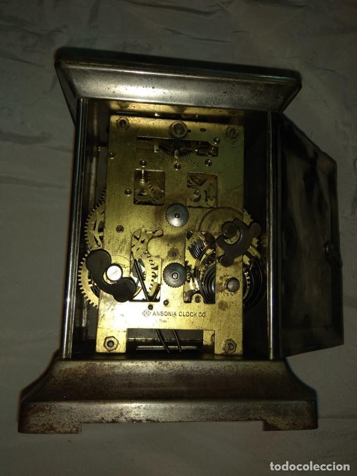 Relojes de carga manual: Antiguo Reloj de Carruaje Ansonia Usa - Leer Descripción - - Foto 9 - 160013650