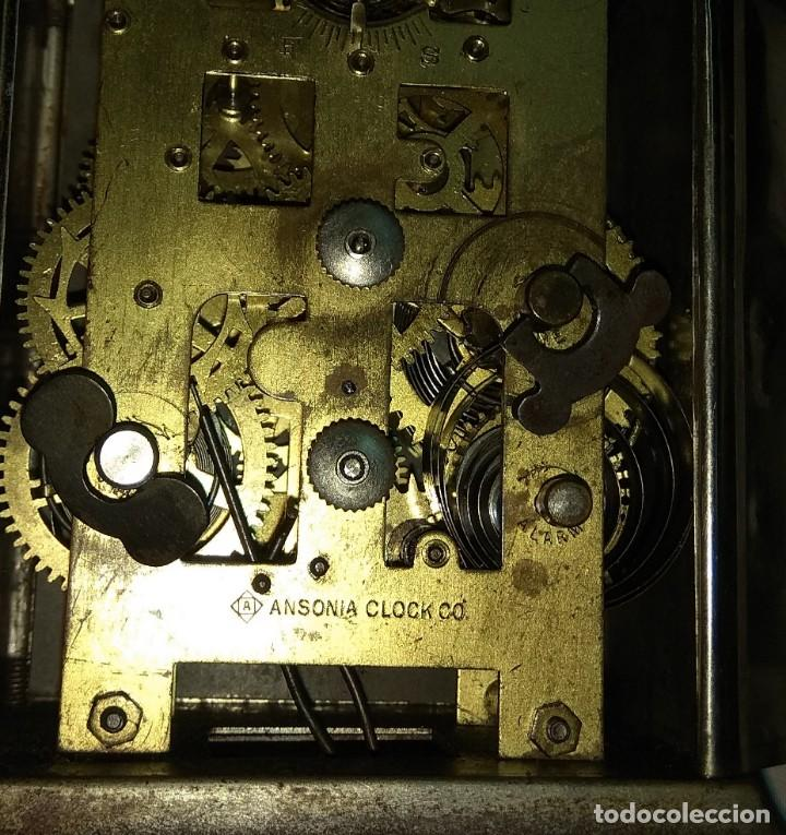 Relojes de carga manual: Antiguo Reloj de Carruaje Ansonia Usa - Leer Descripción - - Foto 10 - 160013650