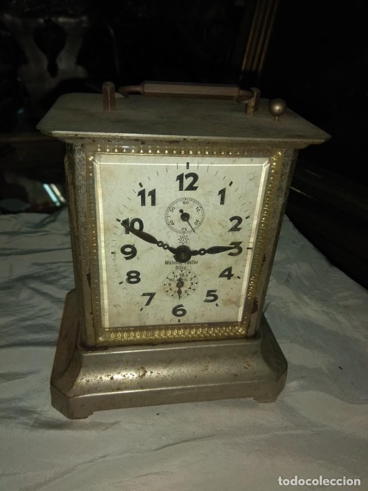 ANTIGUO RELOJ DE CARRUAJE JUNGHANS - MELCHOR FUSTER - OLIVA - VALENCIA - LEER DESCRIPCIÓN - (Relojes - Sobremesa Carga Manual)