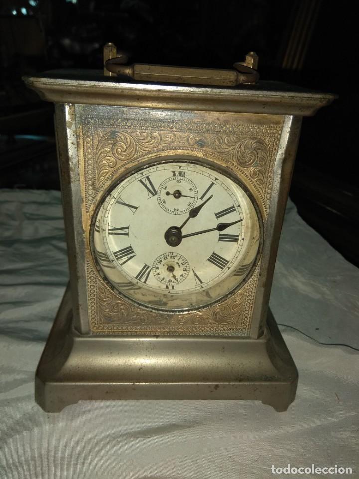 ANTIGUO RELOJ DE CARRUAJE - LEER DESCRIPCIÓN - (Relojes - Sobremesa Carga Manual)
