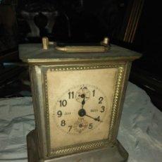 Relojes de carga manual: ANTIGUO RELOJ DE CARRUAJE JUNGHENS - JUAN MATAIX ALCOY - LEER DESCRIPCIÓN -. Lote 160017874
