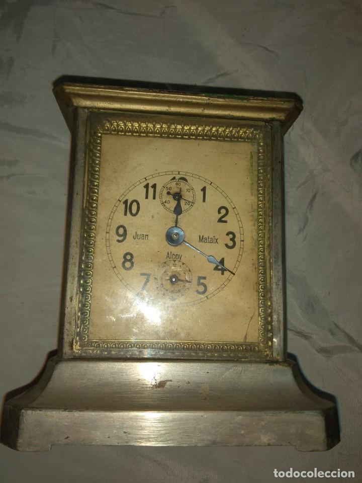 Relojes de carga manual: Antiguo Reloj de Carruaje Junghens - Juan Mataix Alcoy - Leer Descripción - - Foto 3 - 160017874