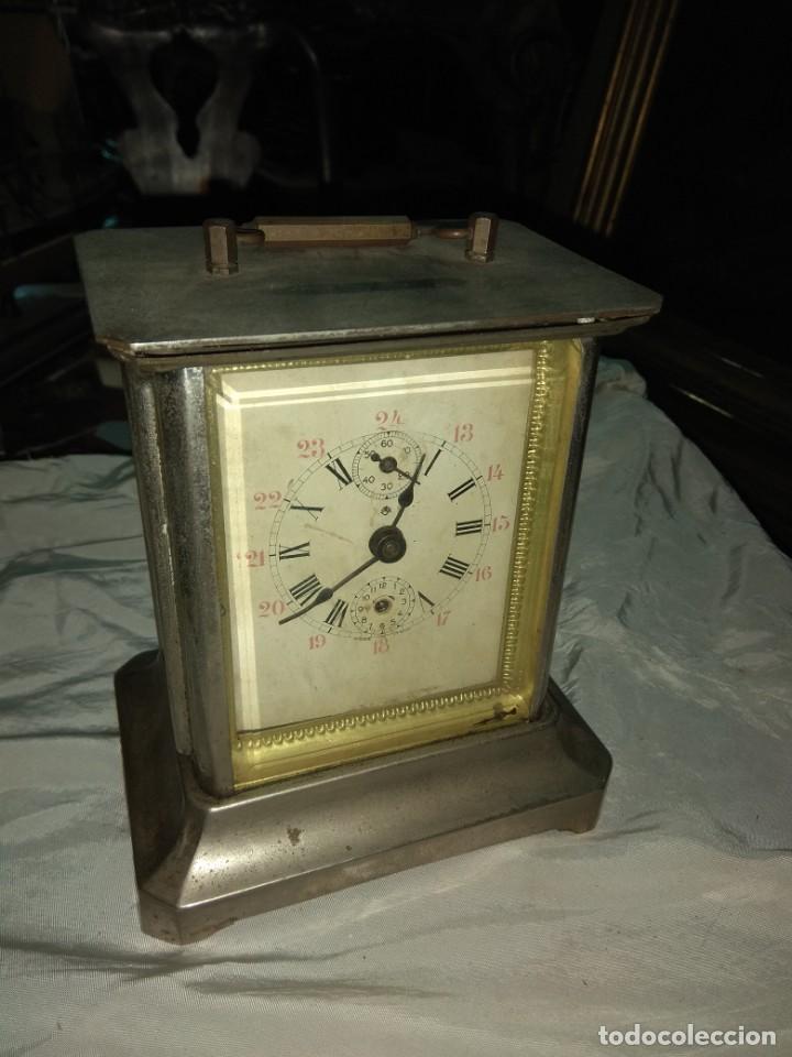 ANTIGUO RELOJ DE CARRUAJE ITALIANO - LEER DESCRIPCIÓN - (Relojes - Sobremesa Carga Manual)