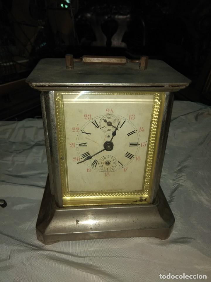 Relojes de carga manual: Antiguo Reloj de Carruaje Italiano - Leer Descripción - - Foto 2 - 160018782