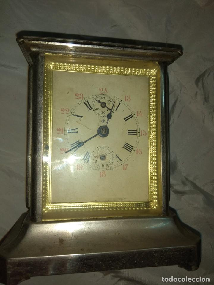 Relojes de carga manual: Antiguo Reloj de Carruaje Italiano - Leer Descripción - - Foto 3 - 160018782