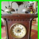 Relojes de carga manual: RELOJ DESPERTADOR 1930 CON PRECIOSA CAJA DE MADERA.. Lote 160335074
