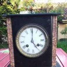 Relojes de carga manual: RELOJ DE SOBREMESA CAJA EN MÁRMOL, SIGLO XIX. Lote 160468362