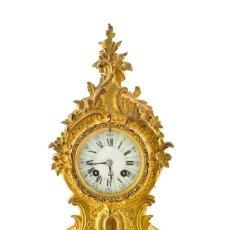 Relojes de carga manual: RELOJ DE SOBREMESA FRANCÉS EN BRONCE DORADO AL MERCURIO DEL SIGLO 19. Lote 161026546