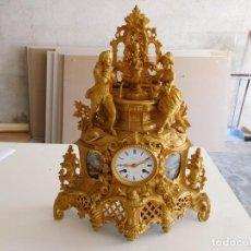 Relojes de carga manual: RELOJ DE SOBREMESA DE BRONCE DORADO AL MERCURIO HOFFMAN FRES. A PARIS AÑO 1880 APROX.. Lote 161893734