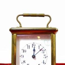 Relojes de carga manual: RELOJ DE CARRUAJE, DESPERTADOR. BRONCE CRISTAL. EN FUNCIONAMIENTO. FRANCIA (?). XIX-XX. Lote 163043294