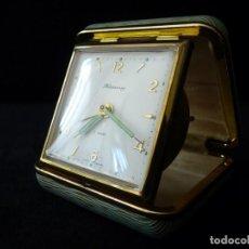 Relojes de carga manual: ANTIGUO RELOJ DESPERTADOR DE VIAJE BLESSING, 2 JEWEIS. WEST GERMANY. AÑOS 50-60. Lote 163656206