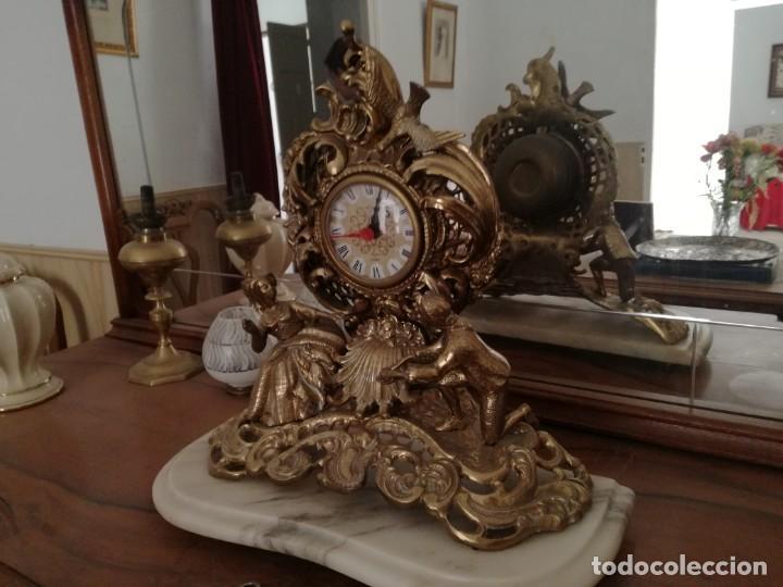 Relojes de carga manual: PRECIOSO RELOJ SOBREMESA con pie de Mármol. - Foto 3 - 163797742