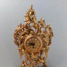 Relojes de carga manual: RELOJ DE SOBREMESA CARGA MANUAL EN BRONCE Y MARMOL. Lote 165101494