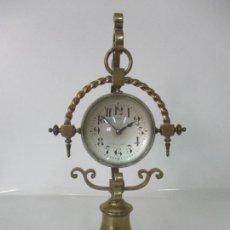 Relojes de carga manual: RELOJ DE SOBREMESA, DE BOLA DE COLGAR - M. ANFRUNS, BARCELONA - FUNCIONA - CON LLAVE ORIGINAL. Lote 165241058