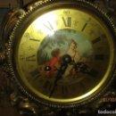 Relojes de carga manual: ANTIGUO RELOJ GRANDE SOBREMESA BRONCE MARCA LAFUENTE A CUERDA FU8NCIONANDO PERFECTO 80 X 38 X 18. Lote 165836354