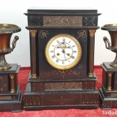 Relojes de carga manual: RELOJ DE CHIMENEA. ESTILO NAPOLEÓN III. VICTOR RECLÚS. FRANCIA. SIGLO XIX.. Lote 166147726