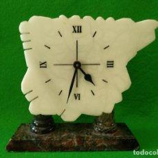 Relojes de carga manual: RELOJ DE MÁRMOL EN FORMA MAPA DE ESPAÑA. Lote 166381762