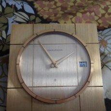 Relojes de carga manual: RELOJ JAEGER LECOULTRE DE MESA EN BRONCE DORADO. Lote 166397898