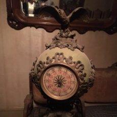 Relojes de carga manual: RELOJ LENZKIRCH 1 MILLION BRONCE Y CERÁMICA NUM 284.230 APROX 1876. Lote 168069738