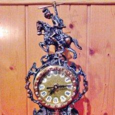 Relojes de carga manual: RELOJ DE BRONCE VINTAGE DE SOBREMESA.. Lote 168386472