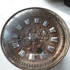 Relógios de carga manual: ESFERA Y MAQUINARIA DE RELOJ DE SOBREMESA ANTIGUO .. Lote 168492292
