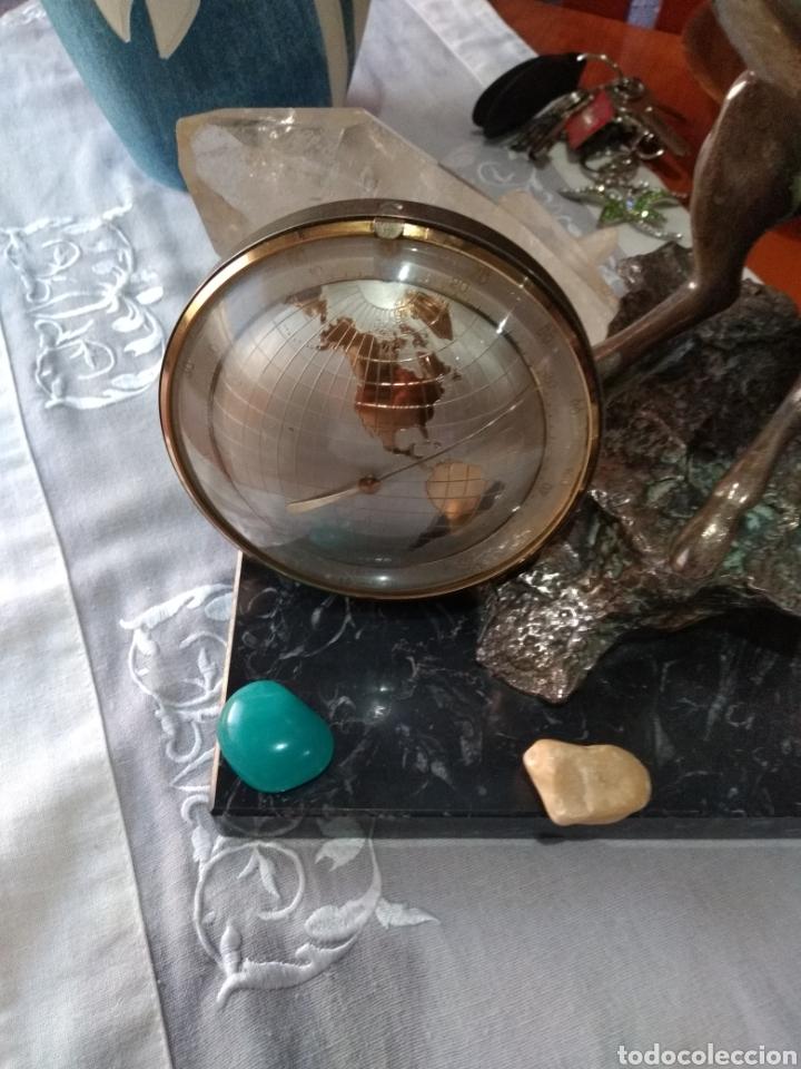 Relojes de carga manual: RELOJ ( ANTIGUO )Y TERMÓMETRO FORMA DE MAPA MUNDII. MÁS EN MÍ PERFIL. - Foto 9 - 168635525
