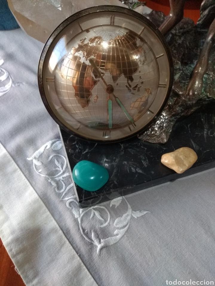 Relojes de carga manual: RELOJ ( ANTIGUO )Y TERMÓMETRO FORMA DE MAPA MUNDII. MÁS EN MÍ PERFIL. - Foto 11 - 168635525