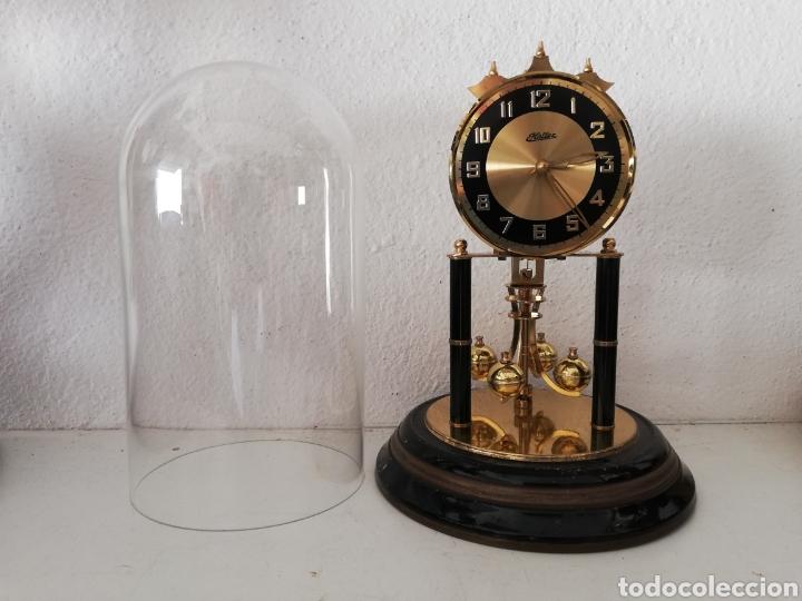 Relojes de carga manual: Antiguo reloj mesa mecánico alemán de cuerda que dura 400 días años 50 marca Haller - Foto 2 - 169003664