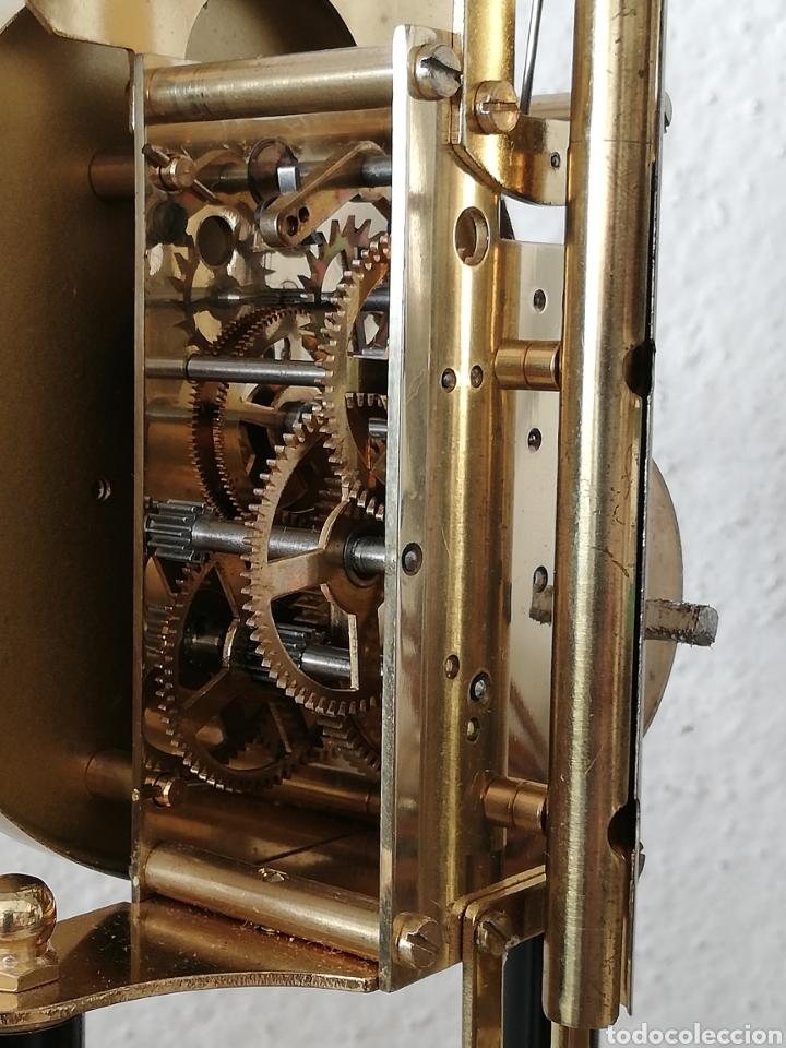 Relojes de carga manual: Antiguo reloj mesa mecánico alemán de cuerda que dura 400 días años 50 marca Haller - Foto 3 - 169003664