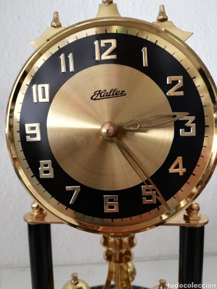 Relojes de carga manual: Antiguo reloj mesa mecánico alemán de cuerda que dura 400 días años 50 marca Haller - Foto 5 - 169003664