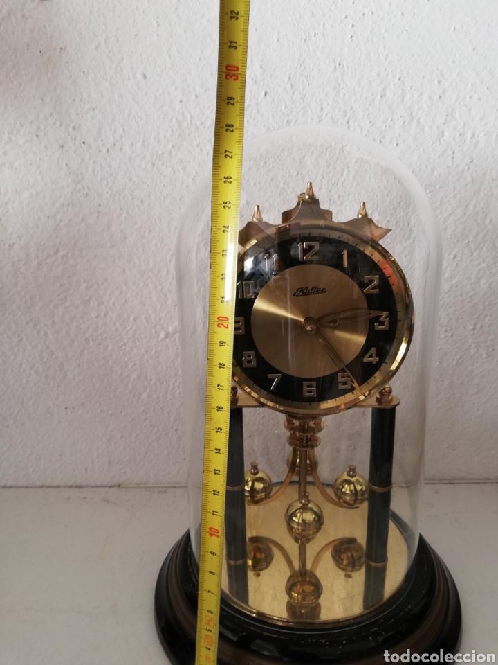 Relojes de carga manual: Antiguo reloj mesa mecánico alemán de cuerda que dura 400 días años 50 marca Haller - Foto 6 - 169003664
