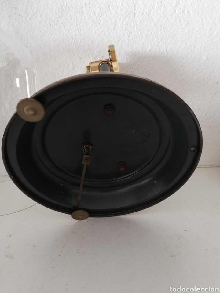 Relojes de carga manual: Antiguo reloj mesa mecánico alemán de cuerda que dura 400 días años 50 marca Haller - Foto 8 - 169003664