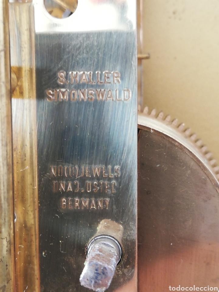 Relojes de carga manual: Antiguo reloj mesa mecánico alemán de cuerda que dura 400 días años 50 marca Haller - Foto 7 - 169003664