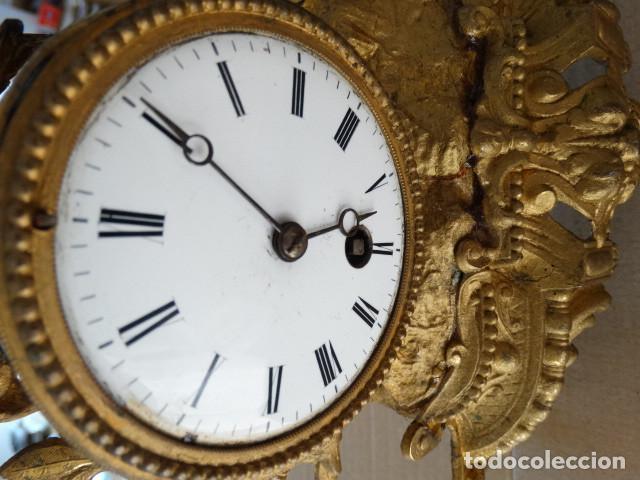 Relojes de carga manual: Antiguo reloj de cuerda pendulo frances - Foto 2 - 169834642