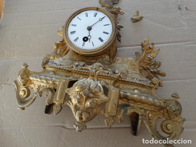 Relojes de carga manual: Antiguo reloj de cuerda pendulo frances - Foto 3 - 169834642