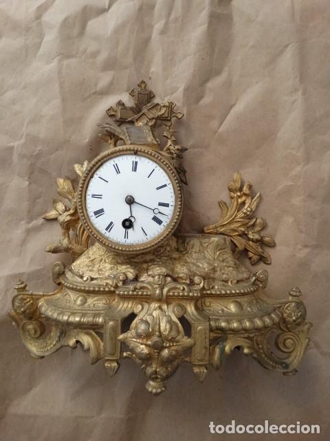 ANTIGUO RELOJ DE CUERDA PENDULO FRANCES (Relojes - Sobremesa Carga Manual)