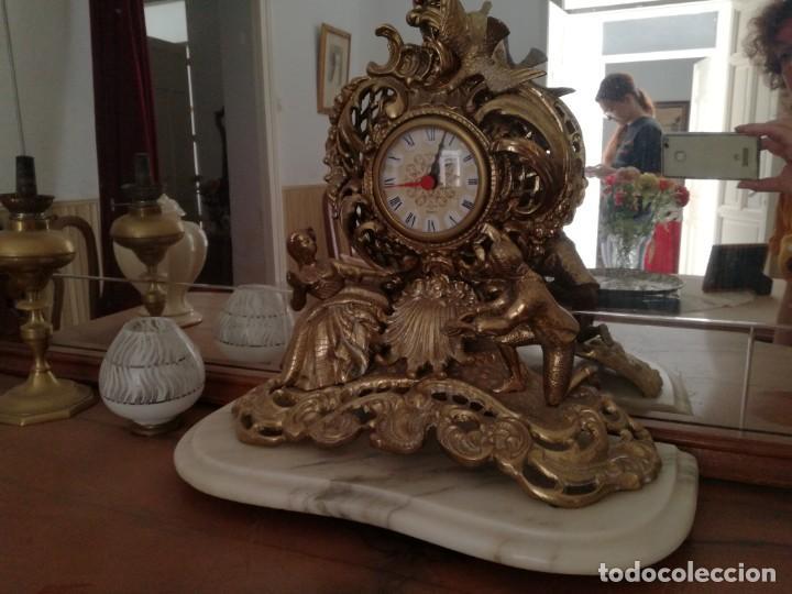 Relojes de carga manual: PRECIOSO RELOJ SOBREMESA con pie de Mármol. - Foto 2 - 163797742
