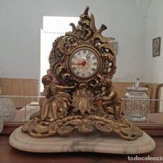 Relojes de carga manual: PRECIOSO RELOJ SOBREMESA CON PIE DE MÁRMOL.. Lote 163797742