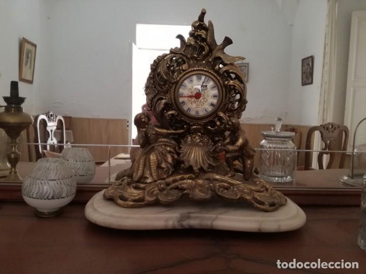 Relojes de carga manual: PRECIOSO RELOJ SOBREMESA con pie de Mármol. - Foto 4 - 163797742
